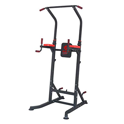 Workout Dip Stand Gym Pull Up Bar Station Power Tower and Professional Strength Training Fitness Equipment Durable Stable Home