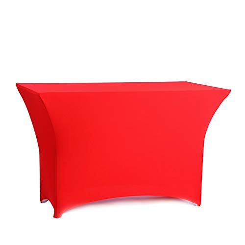 Blackjack tafel 6FT Rechthoekige tafel dekken Spandex Lycra Stretch Wedding Party Hotel Party Meeting Table Rok (Color : Big red, Size : 183 * 60 * 75cm)