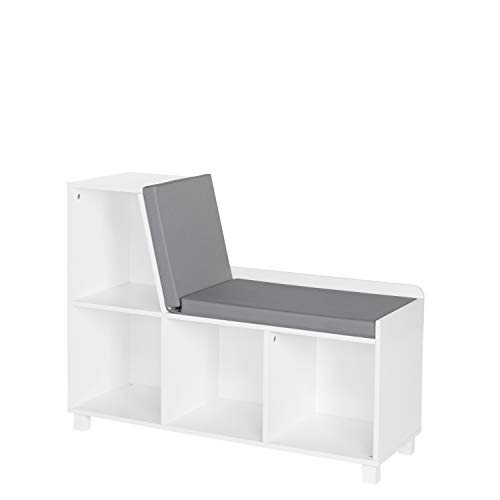 RiverRidge Home Book Nook Collection Kids Cubbies Storage Bench, White
