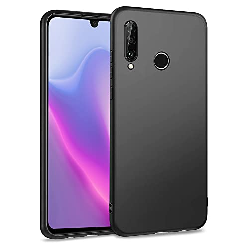 Agedate Funda para Huawei P30 Lite, Premium Soft TPU Anti-Scratch & Choque Carcasa de silicona para Huawei P30 Lite 6,15 pulgadas, color negro