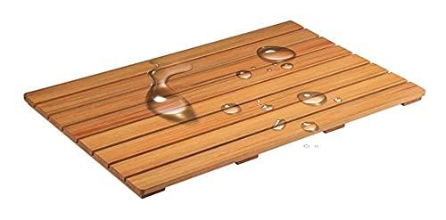 WEIWEIMITE Estera de baño de Ducha de Madera ecológica Natural, baño Impermeable Antideslizante Pedal de Pedal de la Puerta a Prueba de Agua, tamaño Personalizable tarima de Madera para Ducha