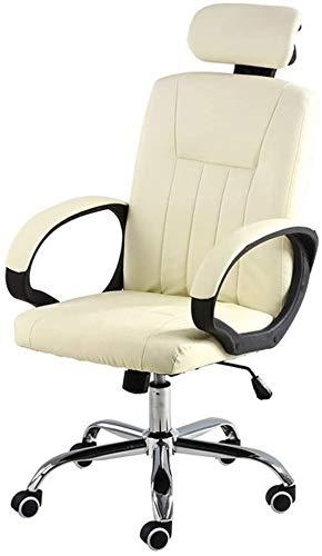 WYL Chefsessel mit Swing-Funktion Ergonomischer Büro-Schreibtisch-Stuhl höhenverstellbar Leder Schreibtisch Gaming Stuhl for Büro Besprechungsraum Bseack Computer Stuhl mit hohem Rücken