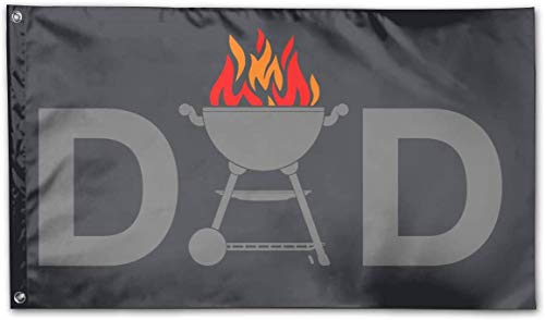 Eriesy Fahne/Flagge Grill Dad Garden Flag Outdoor Flag Polyester Banner Flag with Grommets Outdoor Decorative Flag 3 X 5 Ft
