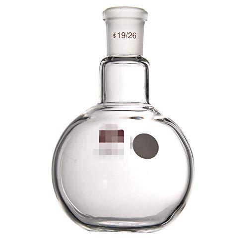 juler Vetreria Laboratorio Chimica analitica Flacone a Fondo Piatto con Collo Singolo 250 500 ml 24/29 Apertura Standard,Trasparente,250ML