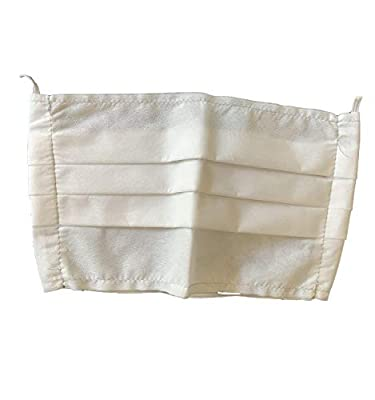 White Disposable Ruffled Fabric Face Masks (2 Pack), Breathable, Double Layer, Protects from Respiratory Droplets, Dust, Pollen, Other Airborne Irritants, Handmade in The Americas