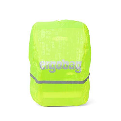 Preisvergleich Produktbild Ergobag Regencape für Schulrucksäcke,  wasserdicht,  Leuchtfarben,  Reflektoren,  Gummizug,  Gelb Glow