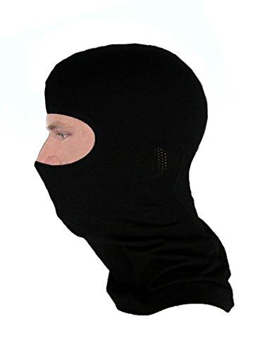 Gatta active Skimaske/Sturmhaube/Sturmmaske aus Merinowolle - Thermoactive - unisex für Damen und Herren - Kopfschutz/Gesichtsmaske/Balaclava - schwarz - Größe S-M / 52-57