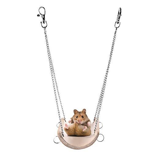 HNLSKJ Hamster Swing Toys Chinchillas Play Toys Rats Chew Juguete Ardilla Colgante Columpio Juguete Gerbils Miceant Pet Hammock Cage Accesorios ggsm (Color : A)