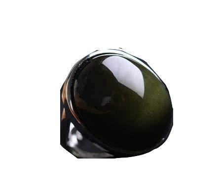Anello scudo di protezione ossidiana ridimentabile (ossidiana nera)
