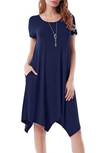 Abito Irregolare Donna Moda Vestito Asimmetrico Elegante Tunica Taglie Forti Abiti Estivi Ragazza...