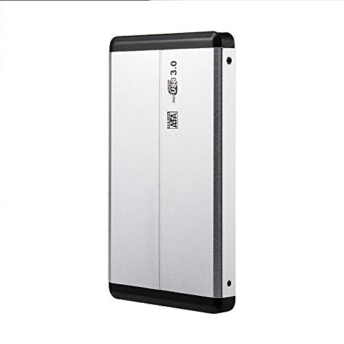 Metal HDD External Hard Drive 1tb/500gb/320gb, 2.5-inch Portable Usb 3.0 Backup Storage, Suitable for Pc, Desktop, Laptop, Macbook, Ps4, Xbox One, Smart Tv (Capacity : 1TB, Color : Silver)