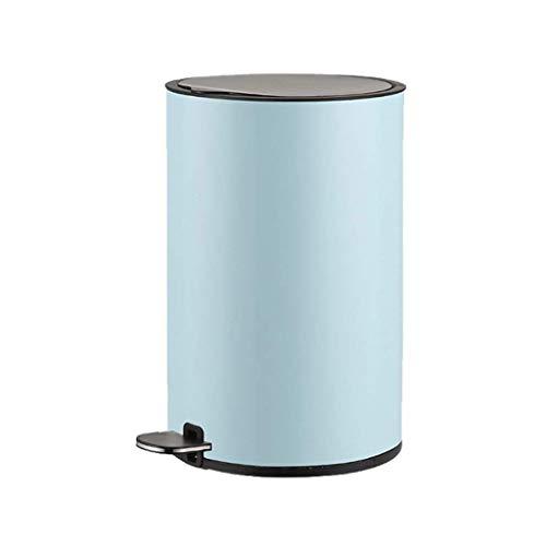 1yess Mülleimer Mülleimer Haus Edelstahl Küchenmüll Mülleimer mit abnehmbarem Kunststoff Müll Bin Liner Room Abfall KANN Machen Bin (Farbe: Roségold, Größe: 8L) (Color : Blue, Size : 12l)