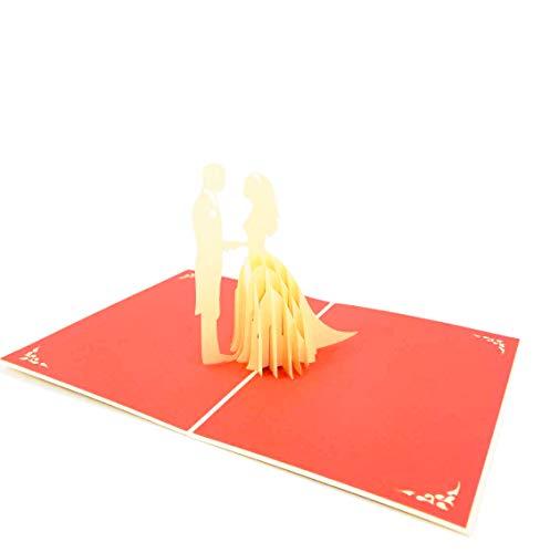 3D Hochzeits-Grußkarte, Hochzeitseinladungskarte, Hochzeitstag Pop-Up-Karte, 3D Pop-Up-Hochzeitskarte, 3D Valentinstag-Karte, Jubiläum, Pop Card Express
