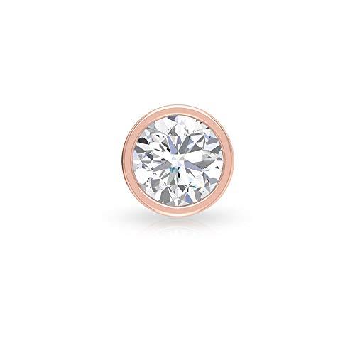 Rosec Jewels 10 quilates oro rosa Round Brilliant Moissanite