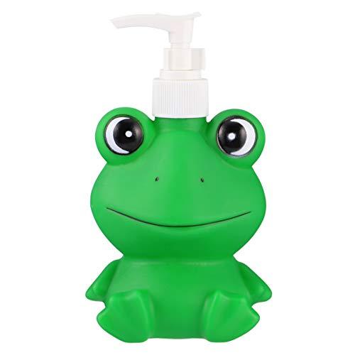 Yardwe Seifenspender Schaumseifenspender wiederbefüllbar Frosch Form Reiseflasche Spülmittelspender mit Pumpkopf für Küche Bad Kosmetik Shampoo Spülung Cremes Flüssigkeit 300ML