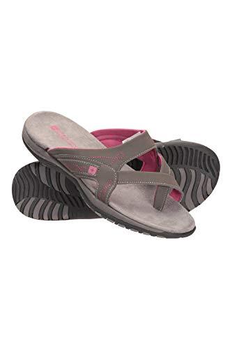 Mountain Warehouse Shoreline Damen-Sandalen – atmungsaktive Damenschuhe, Schuhe mit Neoprenfutter, Mikrofaser-Fußbett – ideal für Sport, Fitnessstudio, Camping Grau 39 EU
