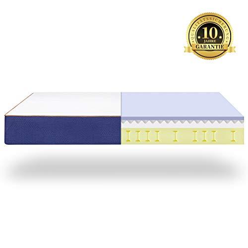 BedStory 7 Zonen Orthopädische Matratze 140x200cm, härtegrad H3 hochwertige Memoryschaum Matratze mit Lavendel-Essenz, Höhe 18cm, ergonomische Matratze für erholsamen Schlaf, 10 Jahre Garantie