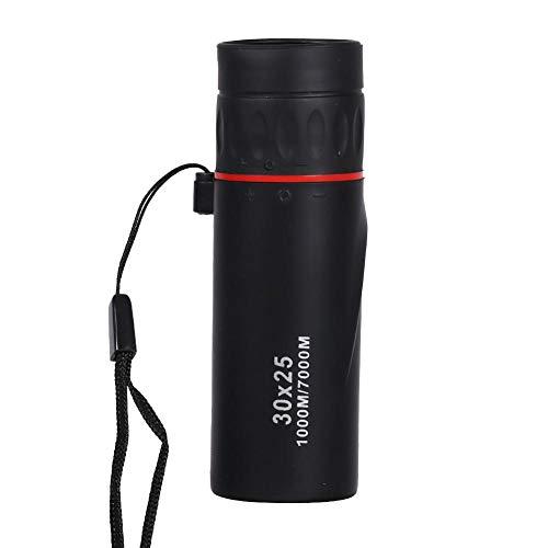 Mini Telescopio de enfoque con una Mano monocular HD óptico Telescopio portátil impermeable ne 30 x 25 Zoomable 7X al aire libre Fácil de operar Adecuado para observación de aves Viajes en camping