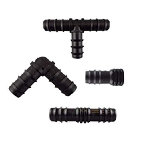 Homo Trends 16 conectores de manguera, 16 mm (1,6 cm) mezclados conectores de manguera de riego para sistemas de riego de jardín