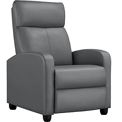 Yaheetech Relaxsessel Fernsehsessel Ruhesessel mit Liege-Funktion und Verstellbarer Beinablage...