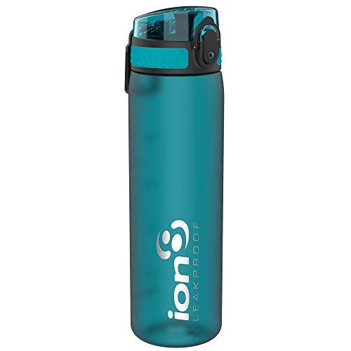 ion8 auslaufsichere Schlanke Wasserflasche/Trinkflasche, BPA-Frei, 500ml / 18oz, Türkis