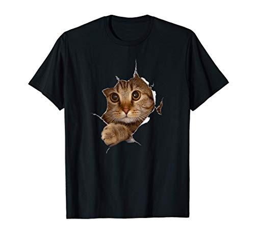 Süßes Kätzchen Riss - Katzen Katzenliebhaber T-Shirt
