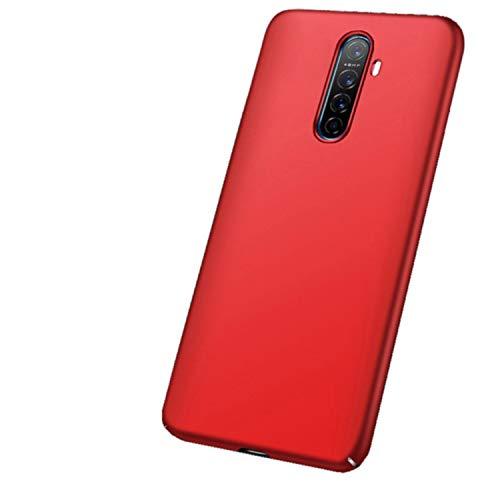 """XunEda Funda Realme X2 Pro 6.5"""", Ultra-Delgada Antideslizante Mate Acabado Funda Protectora Dura Carcasa + Protector de Pantalla para Realme X2 Pro Smartphone(Rojo)"""