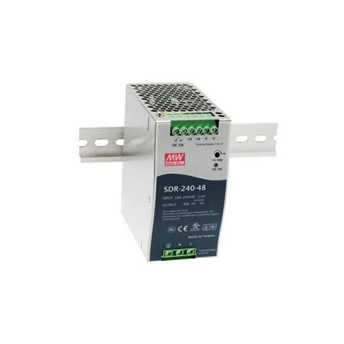 MEAN WELL SDR-240-24 SDR-240 Series 240 W Single Output 24 V AC/DC Industrial DIN Rail w/PFC Function - 1 item(s)