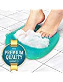 Eutuxia Shower Foot Scrubber Massager Cleaner, Acupressure Mat with Non-Slip Suction Cups, Improve