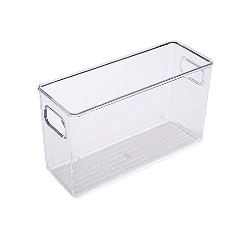 advancethy - Papelera de plástico transparente para almacenamiento de alimentos, con asas para cocina, encimeras, armarios, nevera, congelador, dormitorios, baños