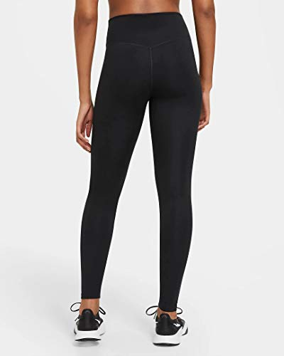 Nike DD0252-010 W ONE MR TGHT 2.0 Leggings Womens Black/(White) M-T