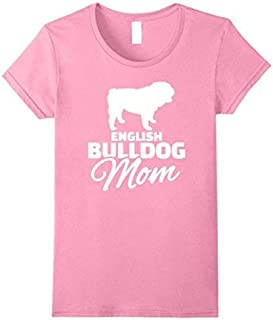 Womens English Bulldog Mom T-Shirt Small Pink [並行輸入品]