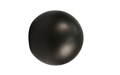iso-design 1 Paar Endstücke Kugel schwarz für 20 mm Gardinenstangen
