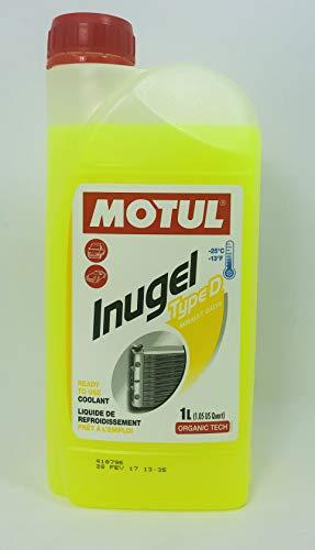 MOTUL Anticongelante Refrigerante Inugel Type D Color Amarillo, 1 litros