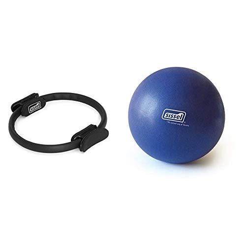 Sissel Pilates Circle, Widerstandsring Loop für Core-Training, Ø 38cm & Pilates Soft Ball, Yoga Gymnastik Übung Therapie Workout, 22cm, blau