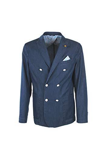 AT.P.CO - Uomo Giacca Blazer Doppiopetto Blu Chambray A182SVEVO91 760 I - 29076-48