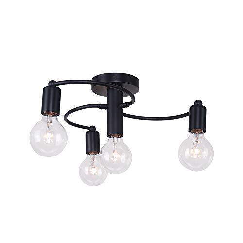 OYIPRO Modern Deckenleuchte 4-Flammig Deckenlampe Kronleuchter E27 Lampenfassung Metall für Schlafzimmer Wohnzimmerlampe Esstisch Küche Restaurant Hotel