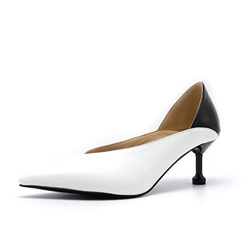 Frauen High Heels Spitzen Zehen Slip-on Louis Heel Courts Schuhe Frühling Herbst Party Stilettos Damen Shallow Pumps