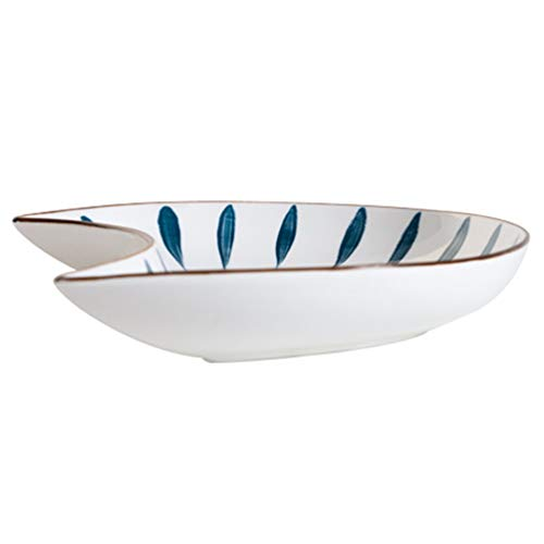Hemoton Juego de platos para aperitivos de cerámica con bandeja para aperitivos, para cocina, fiesta en casa