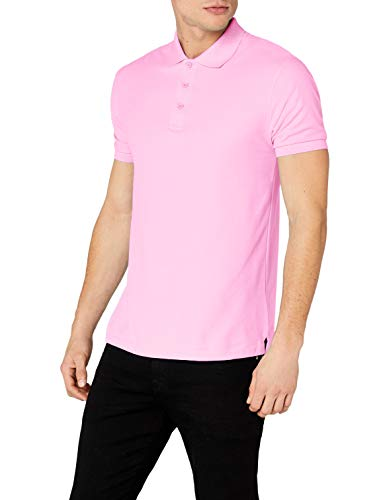 Fruit of the Loom Herren Poloshirt, Rosa (Light Pink), Large