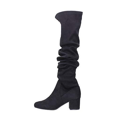 stivali donna Steve Madden alti camoscio mod ISAAC/BLACK MICRO SUEDE tacco 50 nuova collezione autunno inverno 2017/2018.