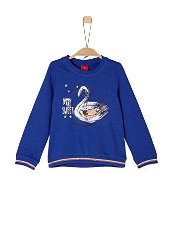 s.Oliver Junior s.Oliver Junior Mädchen 53.809.41.7855 Sweatshirt, Blau (Blue Melange 55w9), 116