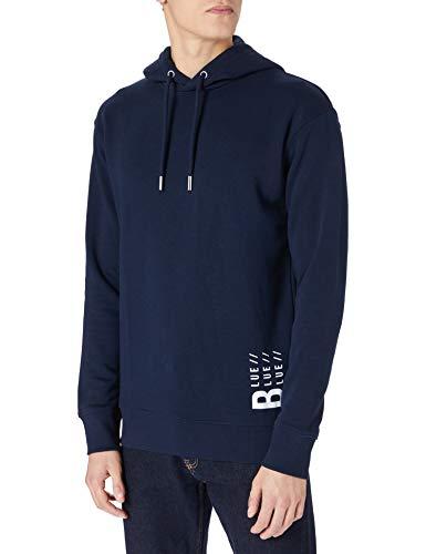 TOM TAILOR Denim Herren 1026728 Hoodie Sweatshirt, 10668-Sky Captain Blue, L