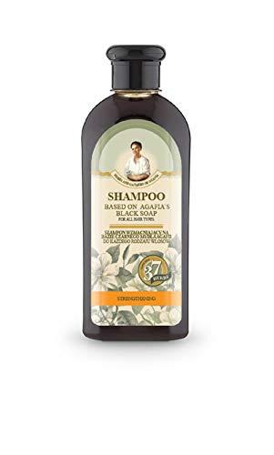 Agafia Schwarze Seifen Shampoo, stärken und wachsen, 350ml, Шампунь на основе черного мыла Агафьи