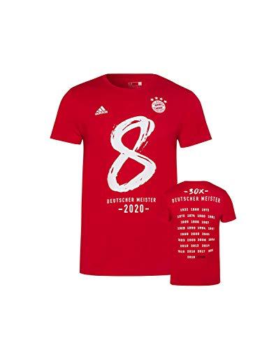 FC Bayern München Kinder T-Shirt Deutscher Meister 2020 rot, 164