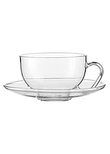 "Jenaer Glas - Tea,\""Relax Tasse mit Glasuntertasse\"" 1 Tasse (118719)"