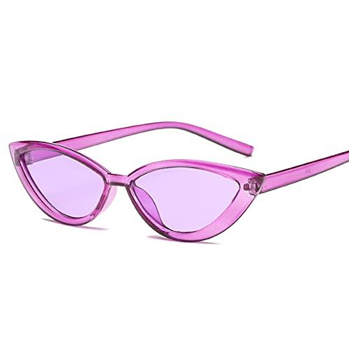 N/A Gafas de sol de moda con forma de ojo de gato, gafas de sol triangulares para mujer, de tamaño pequeño, modernas, Retro, para mujer, gafas de sol para mujer