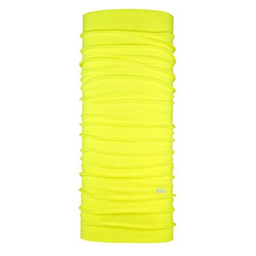 P.A.C. Original Solid Neon Yellow Multifunktionstuch - nahtloses Mikrofaser Schlauchtuch, Halstuch, Schal, Kopftuch, Unisex, 10 Anwendungsmöglichkeiten