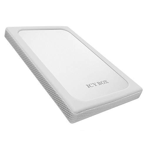 """Icy Box IB-254U3 Externes USB 3.0 Gehäuse für 2,5"""" (6,35 cm) SATA HDD/SSD (bis 6 Gbit/s) mit UASP und Silikonschutz silber"""