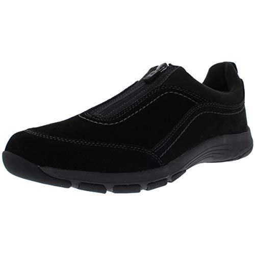 Easy Spirit womens Cave8 Sneaker, Black, 9.5 Wide US